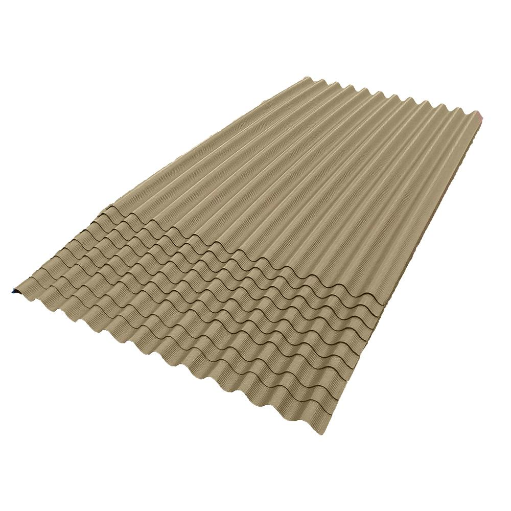 6 ft. 7 in. x 4 ft. Asphalt Corrugated Roof Panel in Tan (10-Pack)