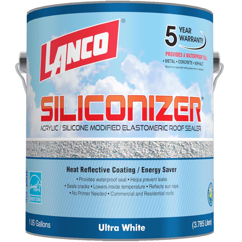 1 Gal. Siliconizer Elastomeric Reflective Roof Coating