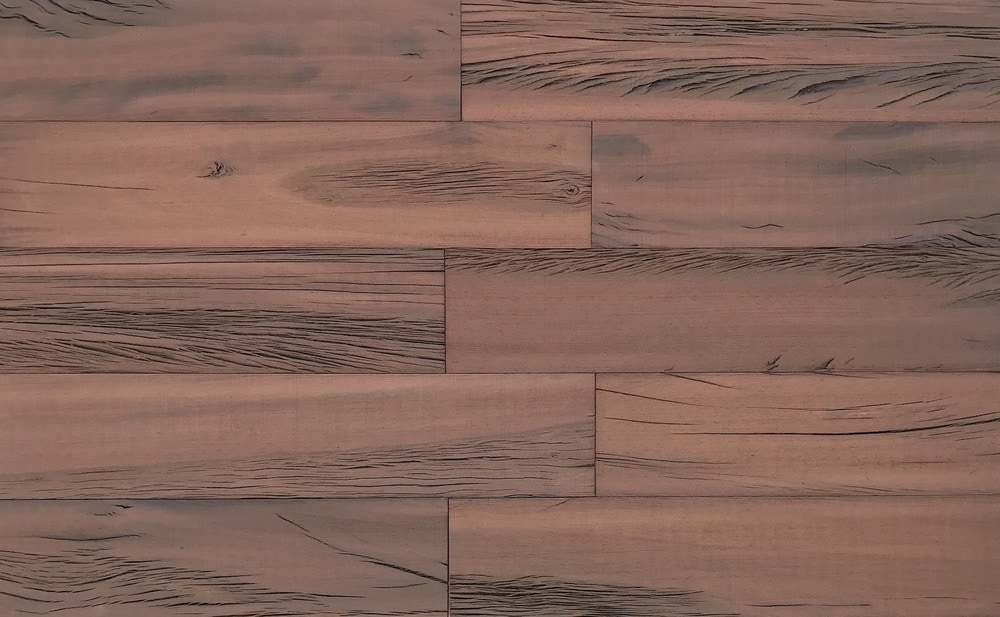 Smart Wall Paneling 3D Holey Wood Brown Reclaimed DIY Smart Wall Planks (10 SF / case)/Holey Wood / 23.75 x 5 x 0.25 (in.)