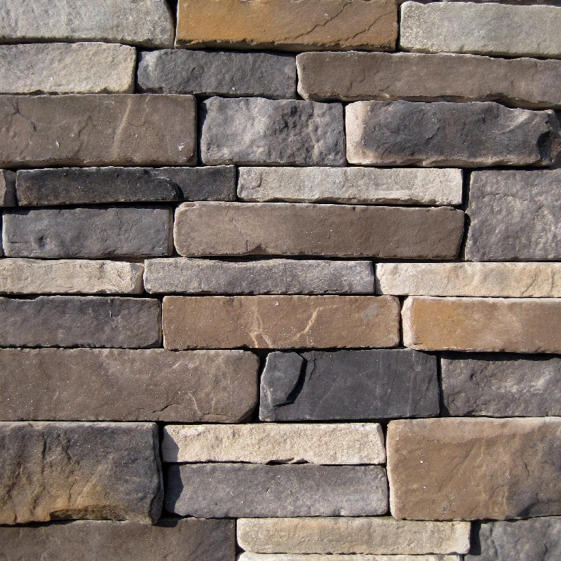 Black Bear Manufactured Stone - Stacked Stone Rustic/Rustic / 7.5 Lineal Ft Corner