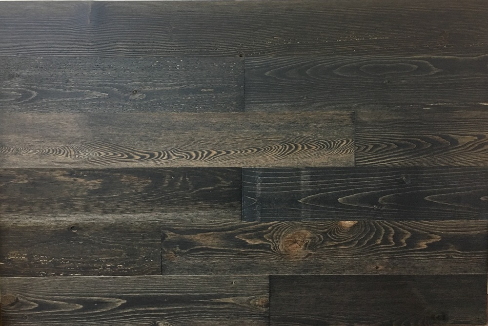Timberchic Black Ice Peel and Stick Reclaimed Wooden Panels/Black Ice / 4'