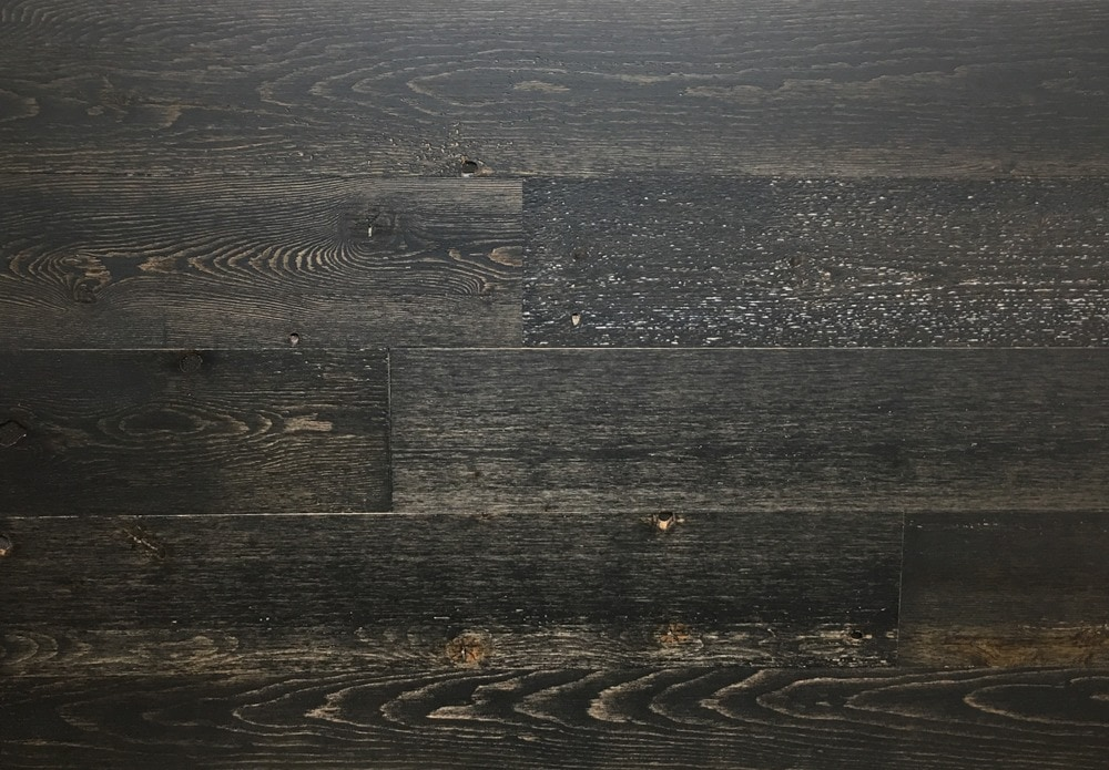 Timberchic Black Ice Peel and Stick Reclaimed Wooden Panels/Black Ice / 5'