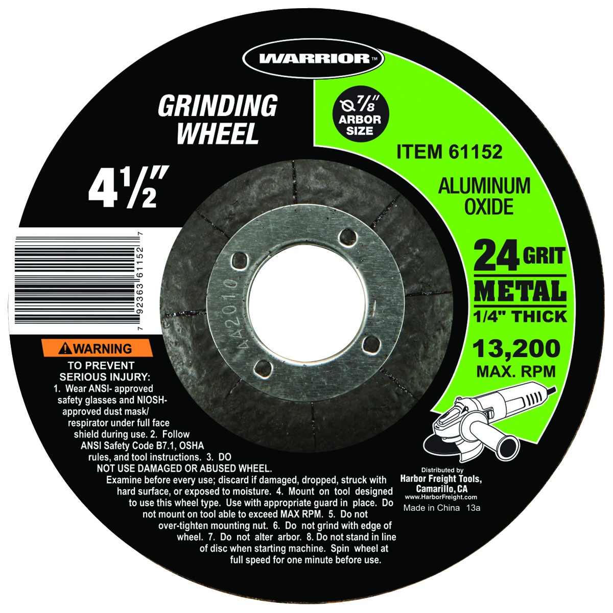 4-1/2 in. 24 Grit Metal Grinding Wheel