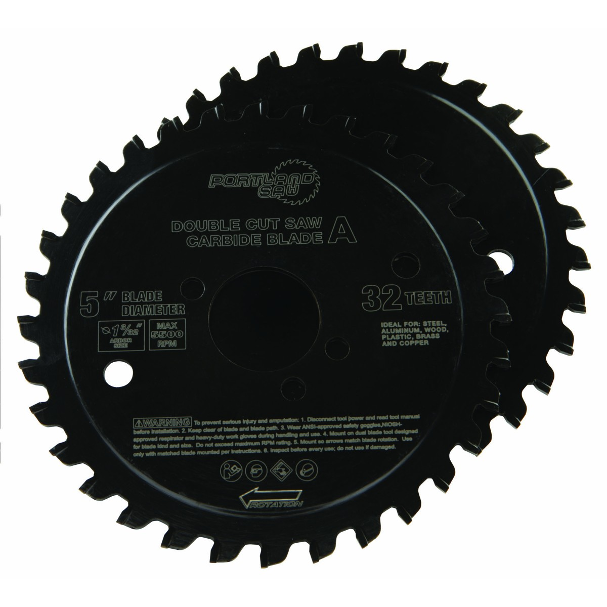 5 in. 32T Double Cut Circular Saw Blade 2 Pc