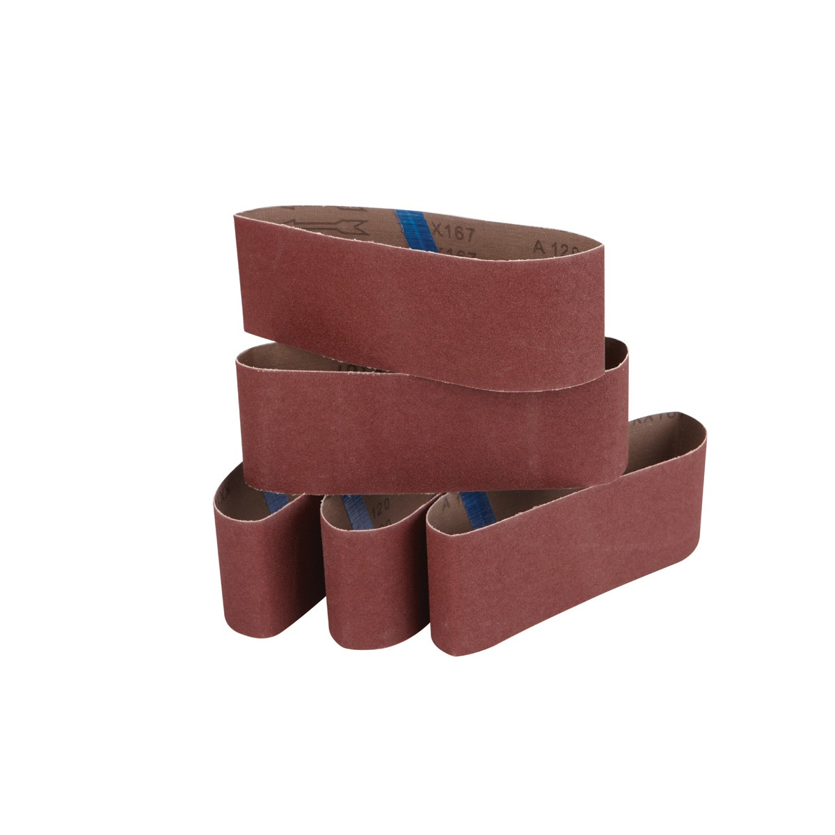 3 in. x 21 in. 120 Grit Sanding Belt 5 Pc