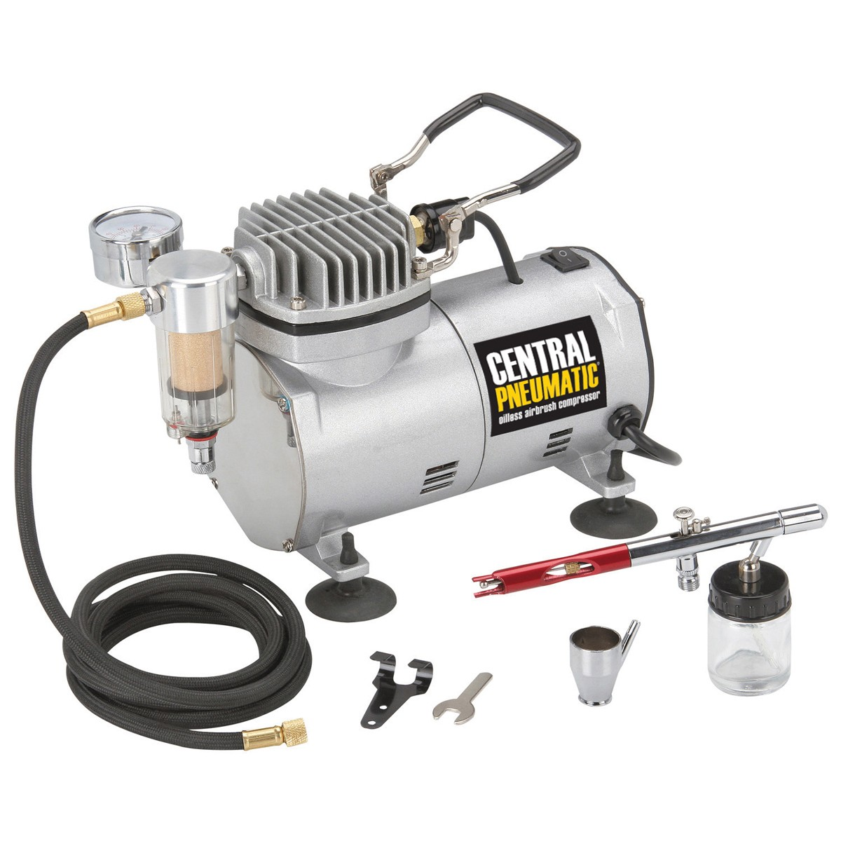 1/5 HP 58 PSI Oilless Airbrush Compressor Kit