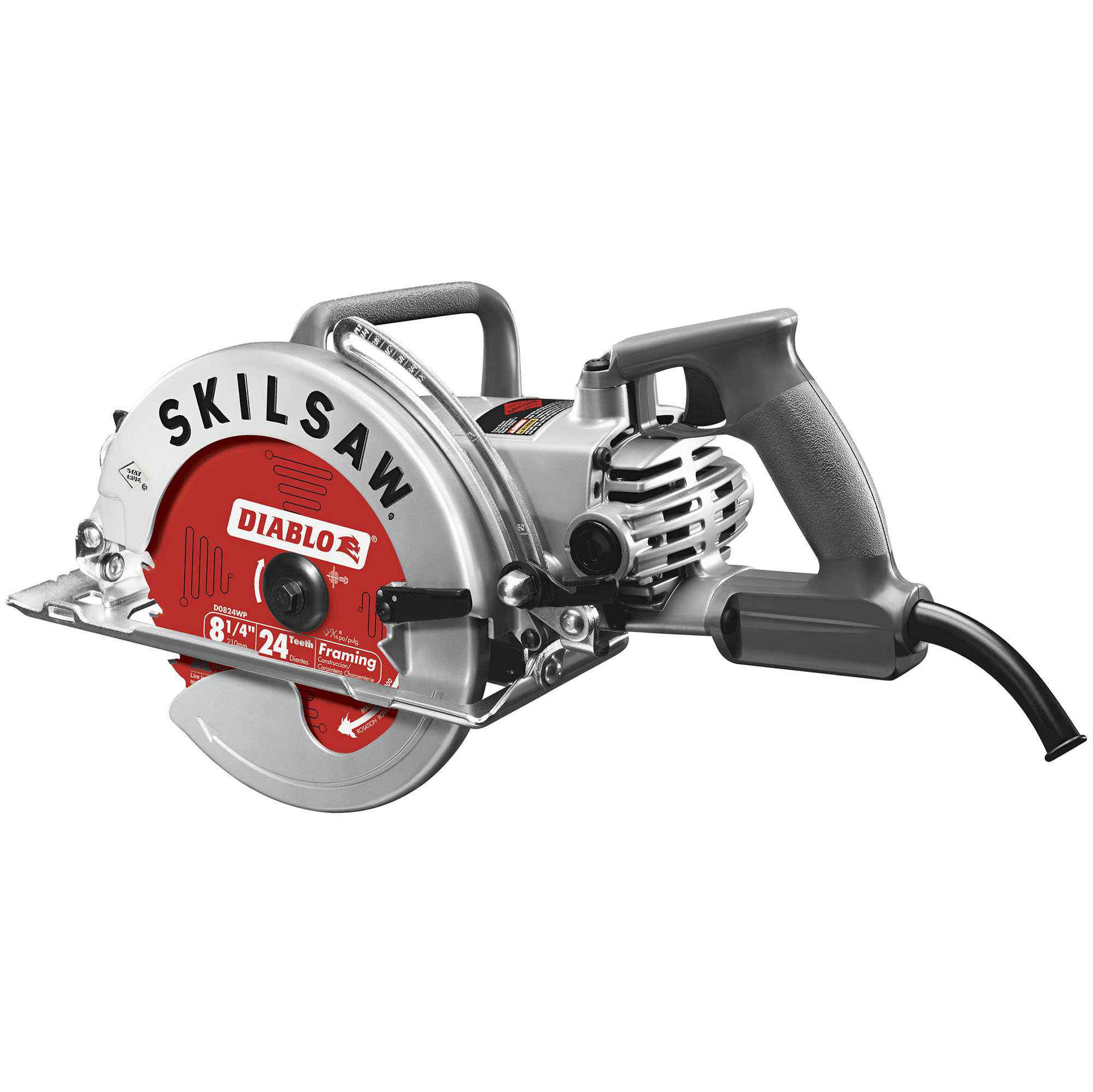 Skilsaw Diablo 8-1/4' 15 Amp Corded High Torque Motor Aluminum Worm Drive Saw